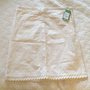 Lilly Pulitzer white felicity skirt ruffle
